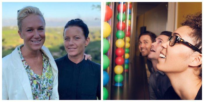 Kajsa Bergqvist och Josefin Holmqvist, samt teamwork i Utmaningarnas Hus