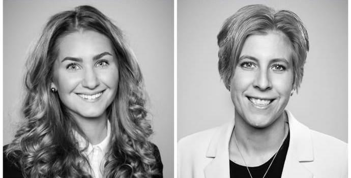Advokatfirman Delphis experter på e-handelsjuridik, Agnes Hammarstrand och Anna Ersson